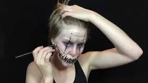 easy scary clown makeup tutorial sabrina brooks youtube