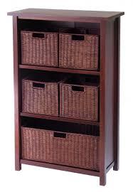 dark brown storage 4 tier shelf design for storage cubes with