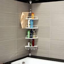 3 Tier Bathroom Stand by 3 Tier Bambus Frame Floor Standing Shower Caddy Rack Storage