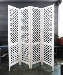 carved wood work white screen room divider furniture mix furniture