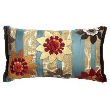 Pier One Pillows And Cushions Oblong Teal Print Pillow Pier 1 Get Up To 8 6 Cashback When