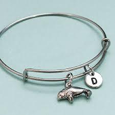 personalized bangle manatee bangle manatee bracelet manatee charm