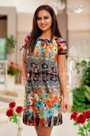 rochii de vara rochie de vara imprimeu colorat
