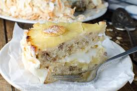 coconut pineapple upside down cake with cream cheese icing