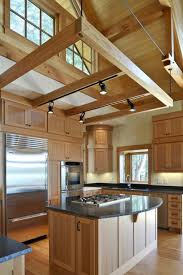 beams over kitchen island paint over kitchen island shelves over