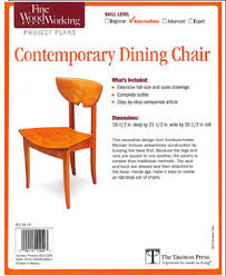 Dining Chair Plans Fine Woodworking Full Size Plans