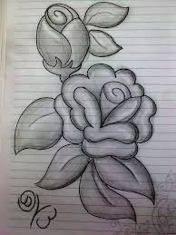simple drawing flowers with pencil sketching flowers with pencil