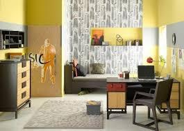 papier peint chambre ado design interieur deco chambre ado papier peint chaise bureua