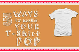 d i y 3 ways to make your t shirt pop