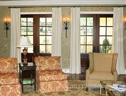 home design window treatment ideas for french doors banquette