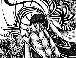 black and white abstract drawings 29 free wallpaper