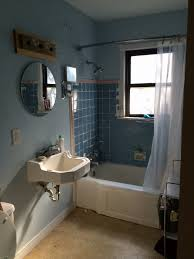 Bathtub Paint Peeling Small Bathroom Renovation U2014 Retro Den