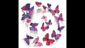 Wall Stickers Home Decor 12pcs 3d Pvc Wall Stickers Magnet Butterflies Diy Wall Decoration