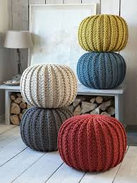 knitted poufs blankets pinterest knitted pouf poufs and ems