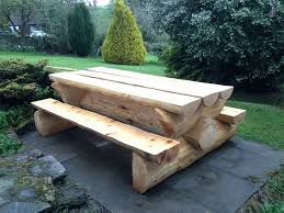 tables made from logs rustic log picnic tables coma frique studio d4982cd1776b