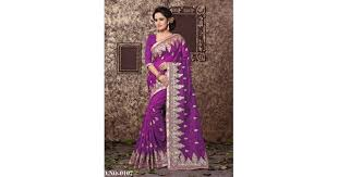 Buy Violet Embroidered Art Silk Zoya Art Silk With Embroidery Work Daily Wear Wine Saree 0107