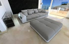 Leiner Schlafzimmer Buche Xxl Big Sofa Miami Megasofa Mit Beleuchtung Bigsofa Mega Couch
