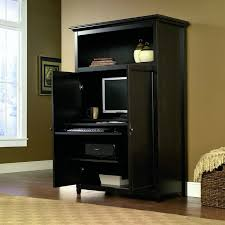 Computer Armoire Cabinet Space Saving Computer Armoire With Concealed Work Desk Getdatgadget