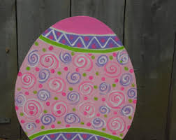 Wooden Easter Door Decorations by Easter Yard Decorations Easter Easter Metal Yard Art