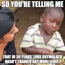 Et Is A Jedi Meme - star wars episode 8 named the last jedi memes pinterest