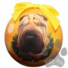 shar pei shatterproof breed ornament shar pei