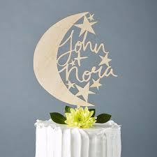 moon cake topper custom moon and wedding cake topper light paper