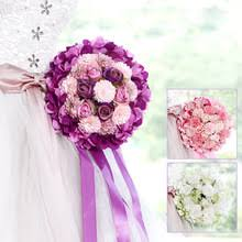 Bouquet For Wedding Compare Prices On Bridal Bouquet Purple Online Shopping Buy Low