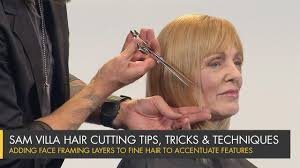 fine layered hairstyles for thin fine hair adding face framing layers to fine hair to accentuate features