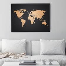 World Map Wall Decal by Copper Map World Map By Awesome Maps Shop