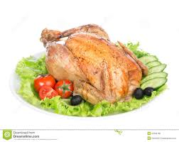 roasted chicken for thanksgiving garnished roasted thanksgiving chicken on a plate royalty free