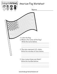 American Flag How Many Stripes Free Printable American Flag Worksheet For Kindergarten