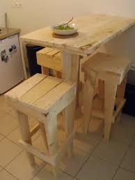 table de cuisine en palette amazing meuble 2 table de bar en palette mineral bio