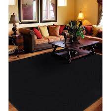 modern black square pattern area rug 8 x 10 floor carpet home