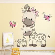 Giraffe Wall Decals For Nursery Giraffe Wall Sticker Animal Butterfly Wall Decal Baby
