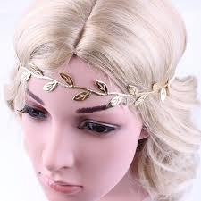 gold leaf headband delicate gold leaf headband for women hair accessories fashion