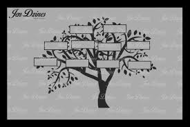family tree 10 names svg dxf eps png by design bundles