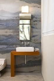 Powder Room Towels - solid slab sink powder room contemporary with white marble powder