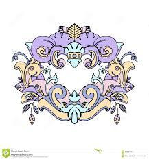 beautiful cute vintage tattoo frame stock vector image 63036541
