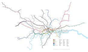 London Metro Map by A More Geographically Accurate London Underground Map Os 3200 X