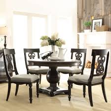 belmeade wood round dining table in old world oak humble abode