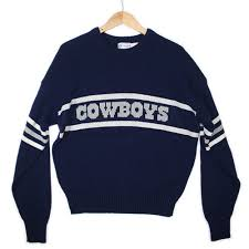 cowboys sweater vintage 80s dallas cowboys cliff engle football sweater the