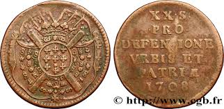 siege of lille flanders siege of lille vingt sols monnaie obsidionale 1708