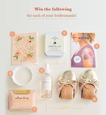 asking bridesmaid gifts bridesmaid gift box giveaway from bijou candles green wedding shoes