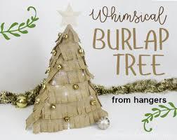 burlap tree from 6 hangers hometalk
