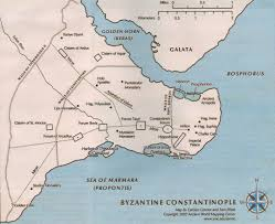 Map Of Constantinople May 29 1453 The Fall Of Constantinople