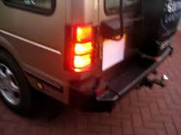 discovery 2 rear light conversion land rover discovery rear light gaurds and rear door ladder youtube