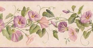 lavender dw30083b floral wallpaper border roll traditional