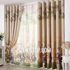 Jungle Curtains For Nursery Safari Forest Printed Coloured Animal Curtains