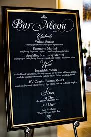 wedding bar menu template diy chalboard bar cocktail menu weddingbee photo gallery