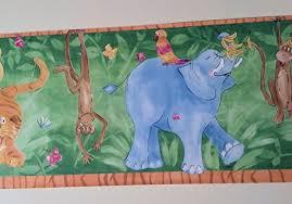 Kids Room Jungle Animals Wallpaper Border Wallpaper For Kids - Wall borders for kids rooms